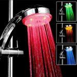 Dizájn led zuhanyfej (automatikusan változó színnel)