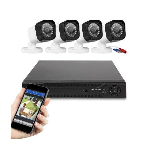 4 kamerás biztonsági rendszer