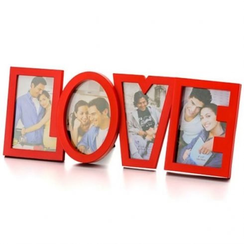 LOVE romantikus fényképkeret