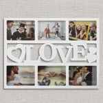 LOVE romantikus fényképkeret (6 fényképes)