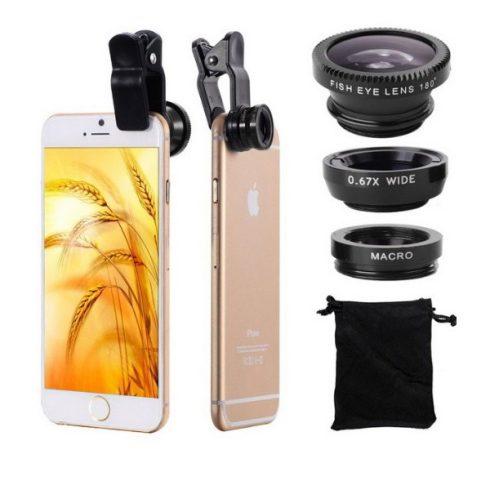 3 az 1-ben Objektív mobiltelefon kamerához
