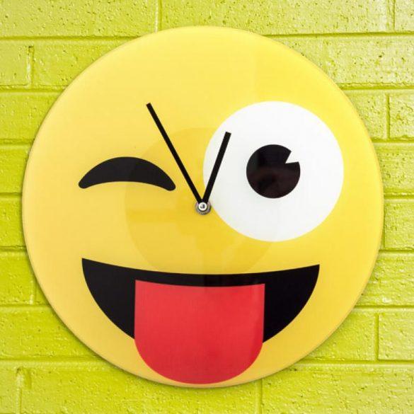 Smiley, emoji wink falióra