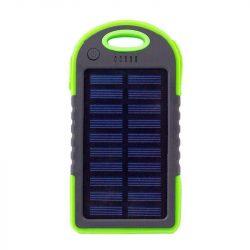 4000 mAh-s napelemes powerbank (Zöld színben)