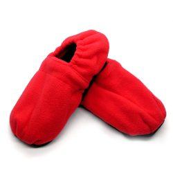 Warm hug feet mikrózható papucs, mamusz (Piros színben)