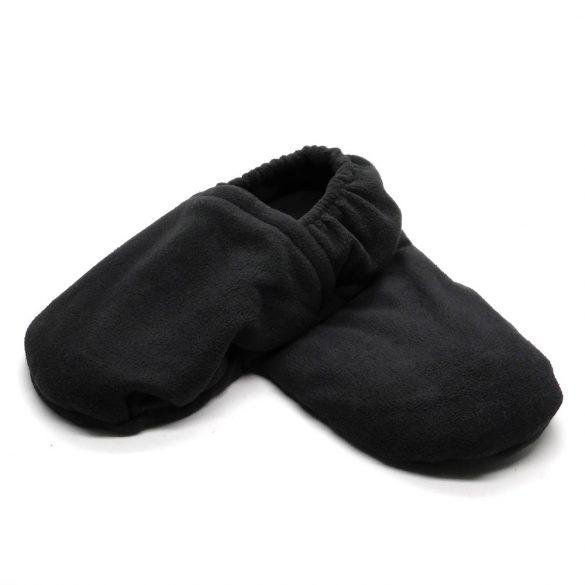 Warm hug feet mikrózható papucs, mamusz (Fekete színben)
