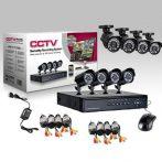 8 kamerás biztonsági rendszer