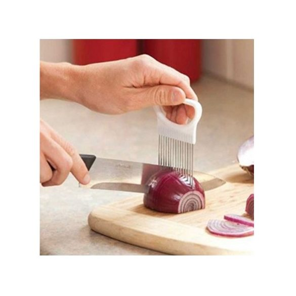 Hagymatű- Zöldség szeletelést segítő eszköz