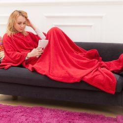 Snug ujjas takaró zsebbel (piros színben)