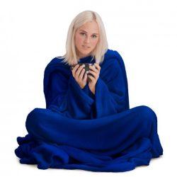 Snug ujjas takaró zsebbel (kék színben)