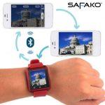 Safako SmartWatch 007 okosóra magyar menüvel (piros)