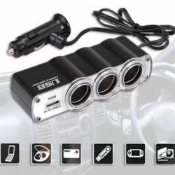 Trial autós szivargyújtó elosztó+USB