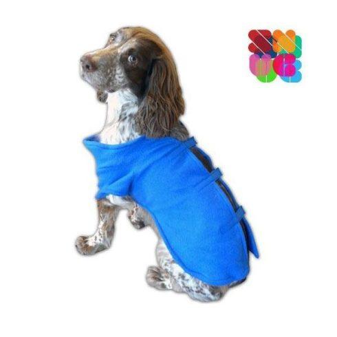 Kutyaruha ujjakkal, állítható tépőzárral (Kék színben)