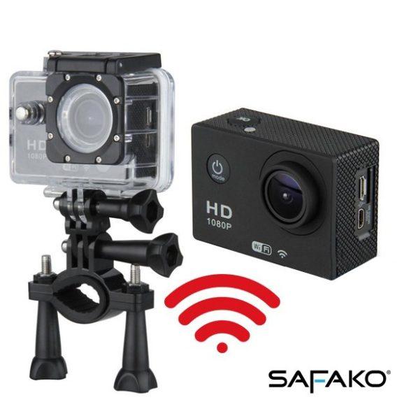 Safako akciókamera 12 MP / Full HD / WIFI