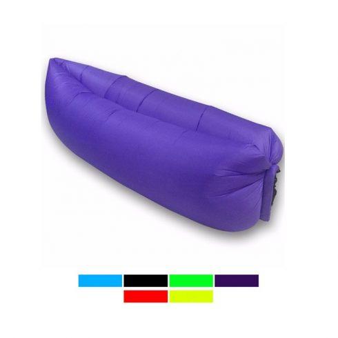 Lazy Bag pumpa nélkül felfújható matrac (Sötétkék)