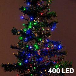 Karácsonyi fényfüzér 400 LED-es - színes - 11 m