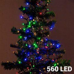 Karácsonyi fényfüzér 560 LED-es - színes - 14 m