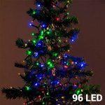 Karácsonyi fényfüzér 96 LED-es / színes / 7,5 m / elemes változat / bel- és kültérre