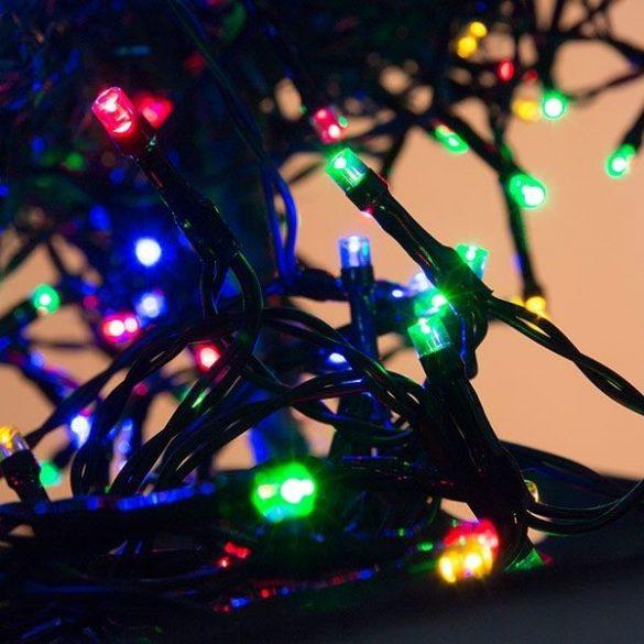 Karácsonyi fényfüzér 192 LED - színes - 14,8 m - elemes változat