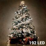 Karácsonyi fényfüzér 192 LED - hideg fehér - 14,8 m - elemes változat