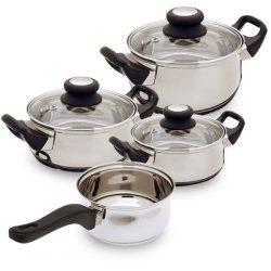 Rozsdamentes acél edénykészlet ( 7 darabos )
