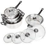 Rozsdamentes acél edénykészlet ( 12 darabos )