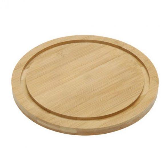 Bambusz sajtvágó deszka és késkészlet ( 4 darabos )