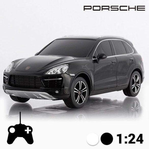 PORSCHE CAYENNE TURBO távirányítós autó, fekete 1:24
