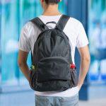 Összecsukható praktikus hátizsák (fekete)
