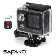 Safako Akciókamera / Ultra HD (4K) felbontás + WIFI + távirányító