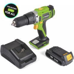 Akkumulátoros fúró csavarozó 18V / max. 1250 rpm / gyorstöltővel és akkumulátorral