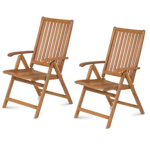 Dönthető kerti szék 2 db/csomag