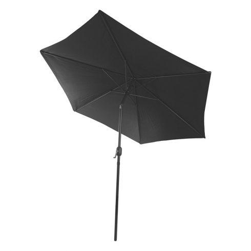 Fémvázas fekete színű napernyő