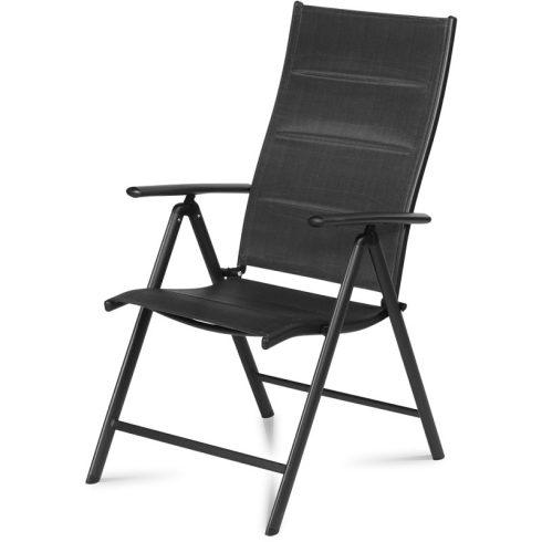 Fémvázas, dönthető kerti szék (2 db/szett)