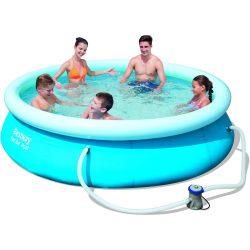 Puhafalú medence (305 X 76 cm) + víztisztító szűrő