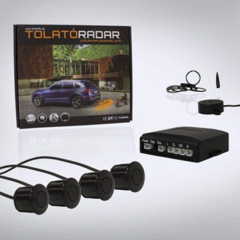 Hagyományos hangszórós tolatóradar, 4  fekete szenzorral