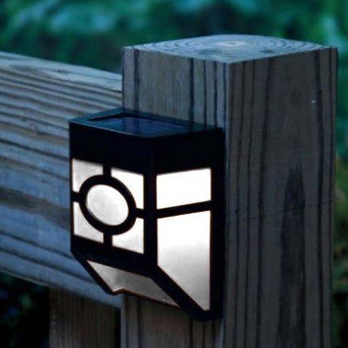 Kültéri szolár lámpa, fekete