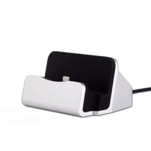 Iphone asztali töltő, ezüst