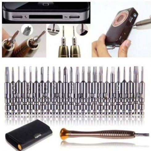 25 részes mini csavarhúzó készlet elektronikai eszközökhöz