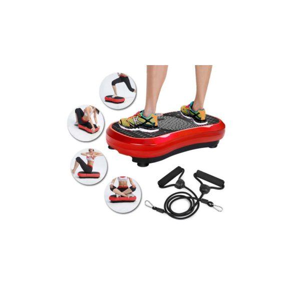 Vibrációs tréner, gumikötéllel és távirányítóval (piros-fekete színben)