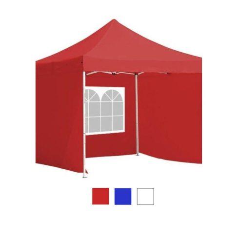3x3-as pavilon, oldalfallal - piros