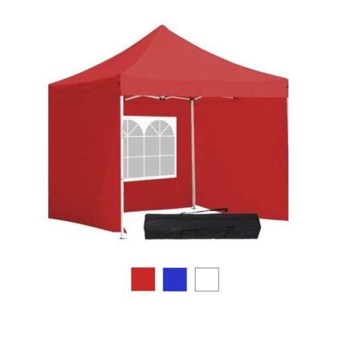 Hordtáskás 3x3-as pavilon, oldalfallal - piros