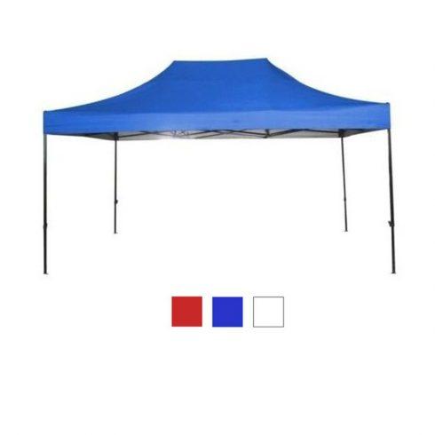 Kerti pavilon hordtáskával 3x4,5 m, kék