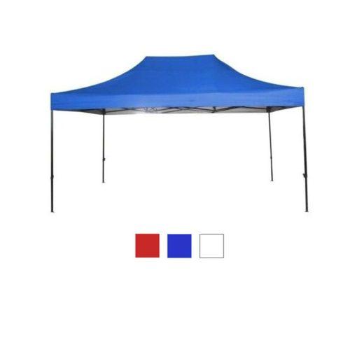 Kerti pavilon hordtáskával 3x6 m, kék