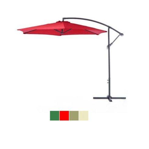 Függő napernyő, 2,7m, piros