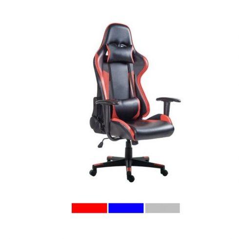 Gamer és irodai, főnöki szék PRO (piros)