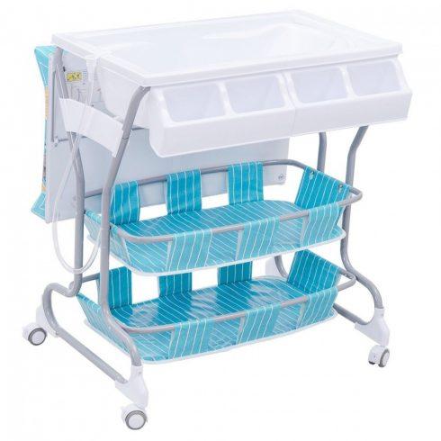 Többfunkciós pelenkázó és fürdető ágy, kék