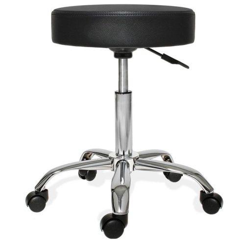 Kis gurulós kozmetikai szék, fekete