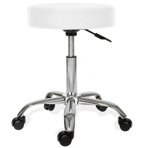 Kis gurulós kozmetikai szék, fehér