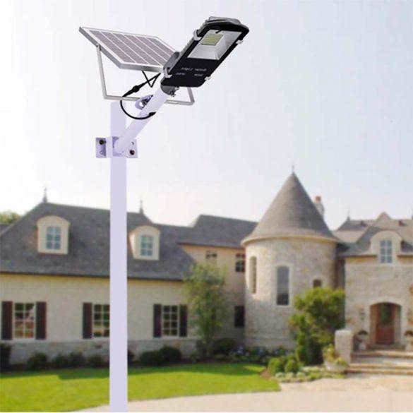 Napelemes udvari világítás, lámpa (60 LED / 30W / 6V)
