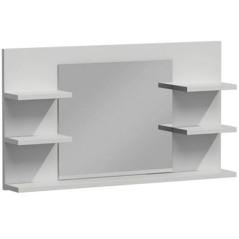 Drohmo L5 polcos fürdőszoba tükör, matt fehér